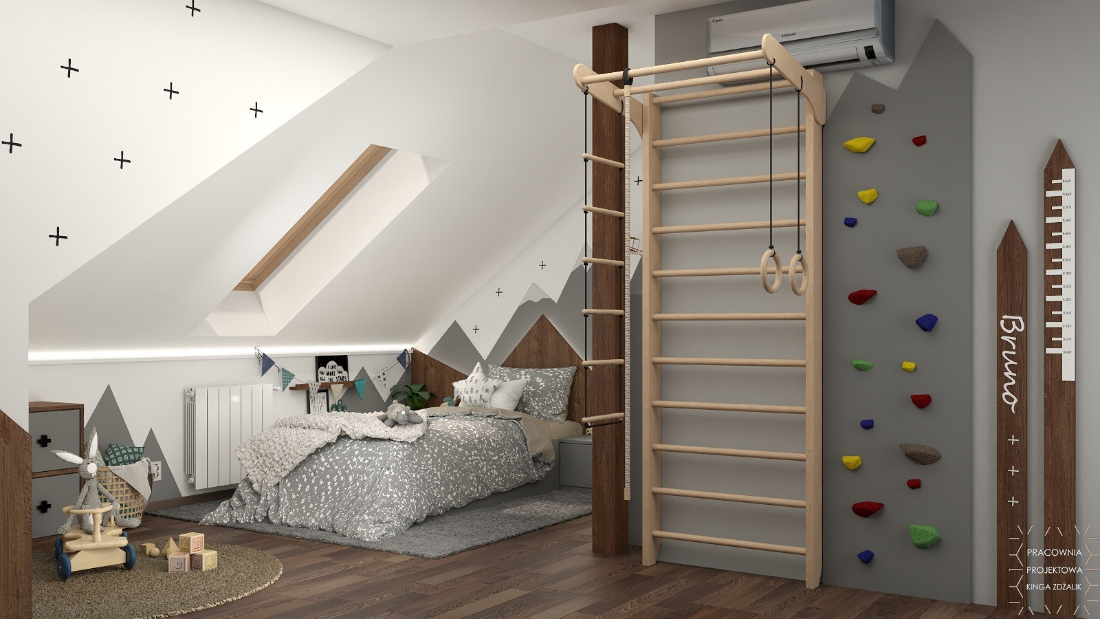 ścianka wspinaczkowa dla dziecka